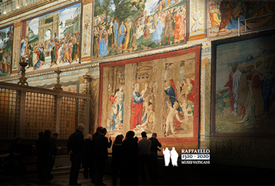Five hundred years after the death of Raphael, his tapestries return to the Sistine Chapel